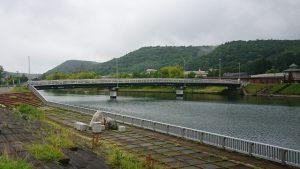 午前7時 網走川と鏡橋(三眺地区)
