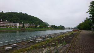 午前7時 網走川と河川敷(三眺地区)