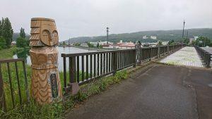 午前7時 大曲橋と橋の欄干