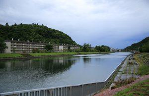 午前7時 網走川と三眺刑務所官舎