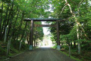 午前7時 網走神社への坂