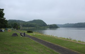 午前7時 網走湖畔
