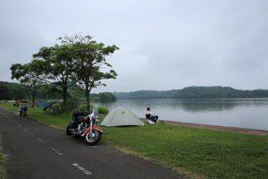 午前7時 網走湖畔 呼人浦キャンプ場