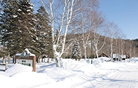 トレーラーハウスが設置される勝山農村公園