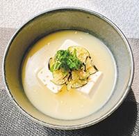 豆腐とナスの冷製みそ汁