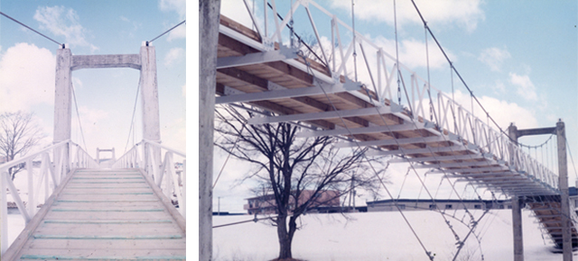 作品名『思い出のつり橋』北見市・男性 今はなき中の島公園の第1観月橋。寂しいな。
